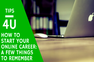 how to start your online career