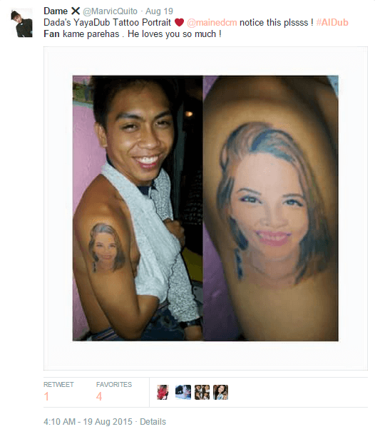 Aldub Fan Tattoo